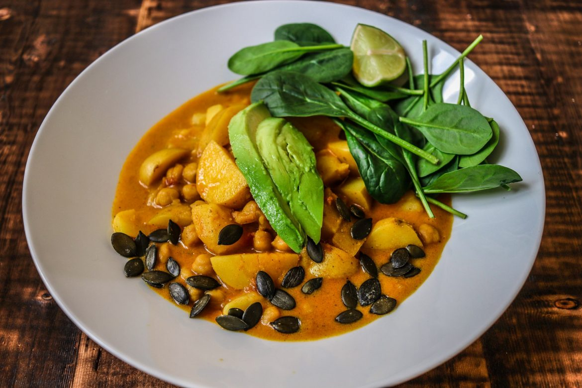 vegan coconut potato curry