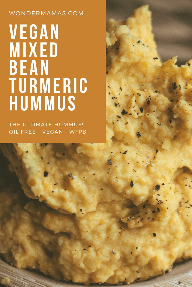 Two Bean Turmeric Hummus (Vegan - GF - Oil Free)