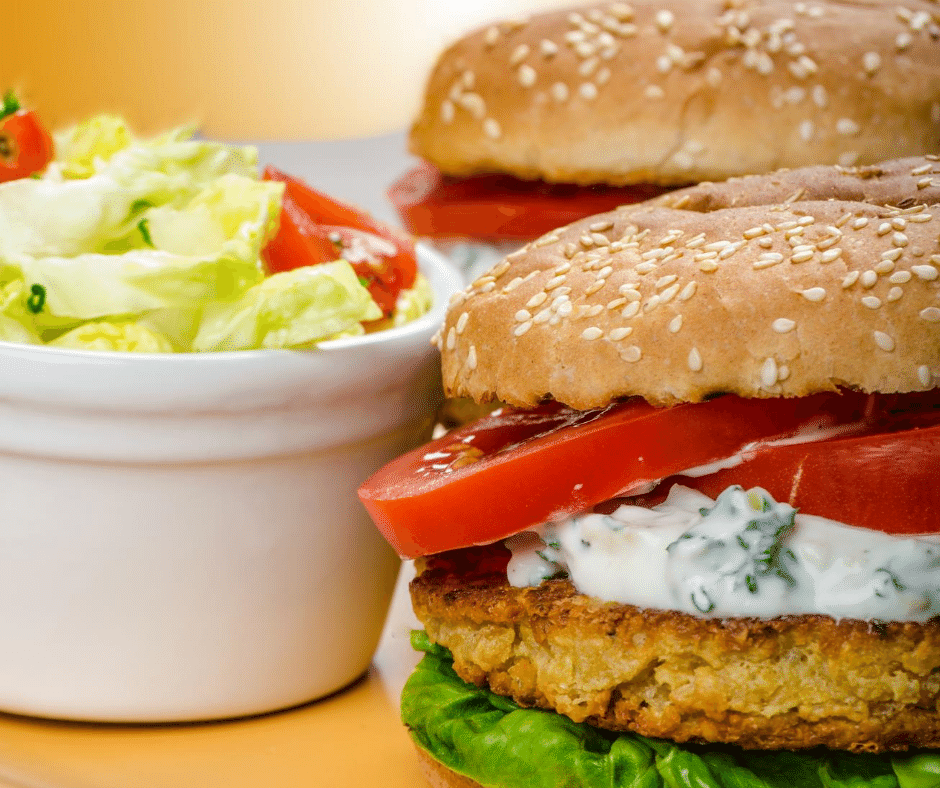 5 minute chickpea burger