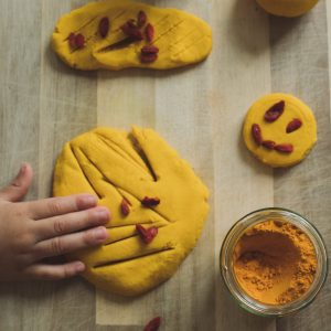 Homemade Playdoh with Turmeric