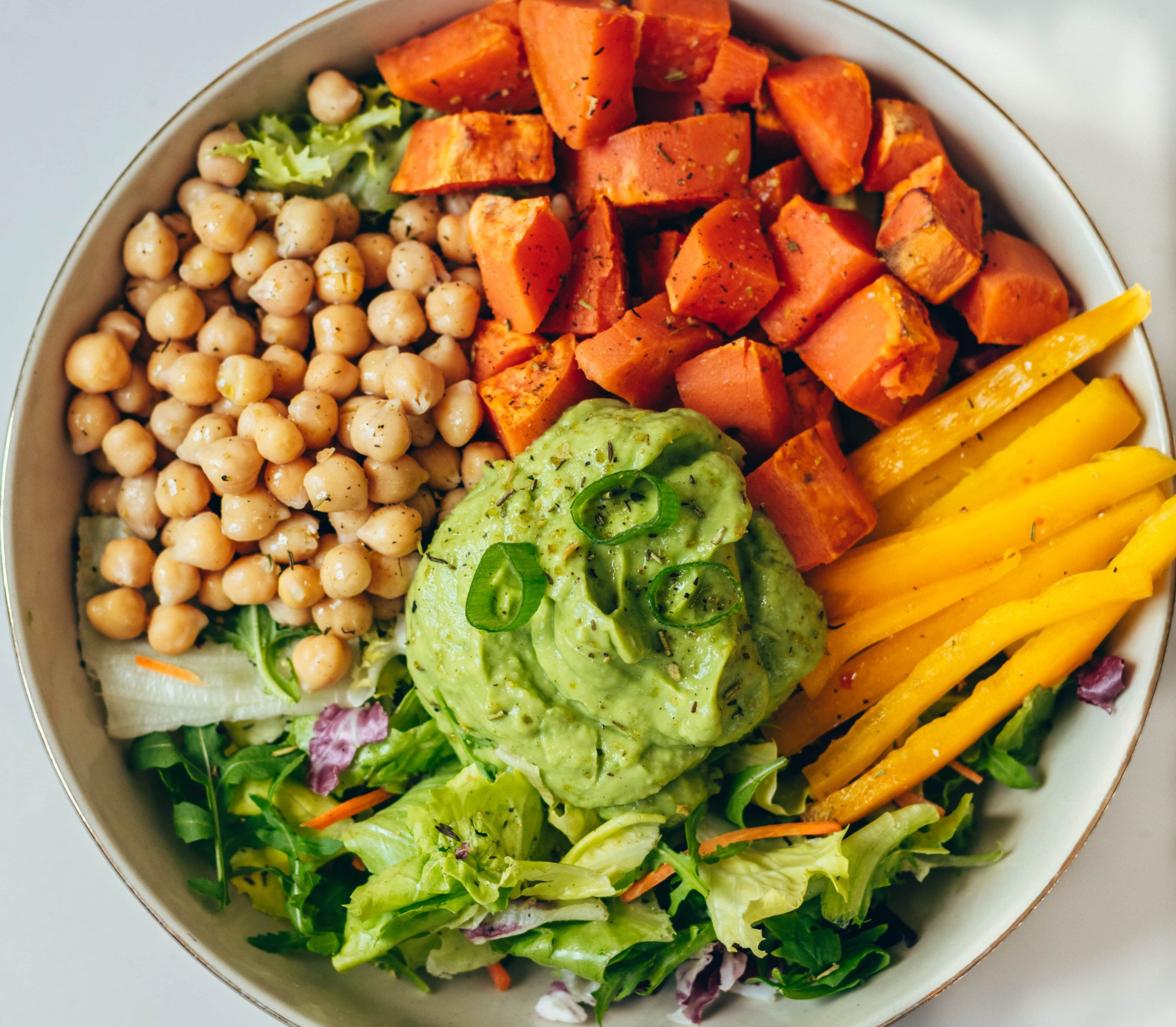 vegan green goddess buddha bowl