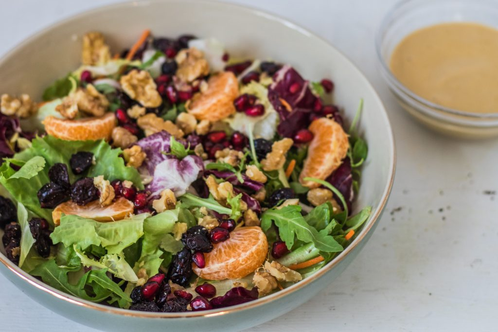 Cranberry Orange Walnut Salad