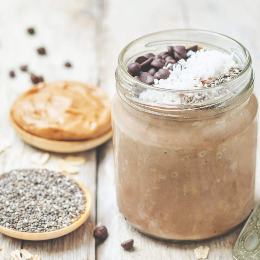 chocolate nut butter overnight oats