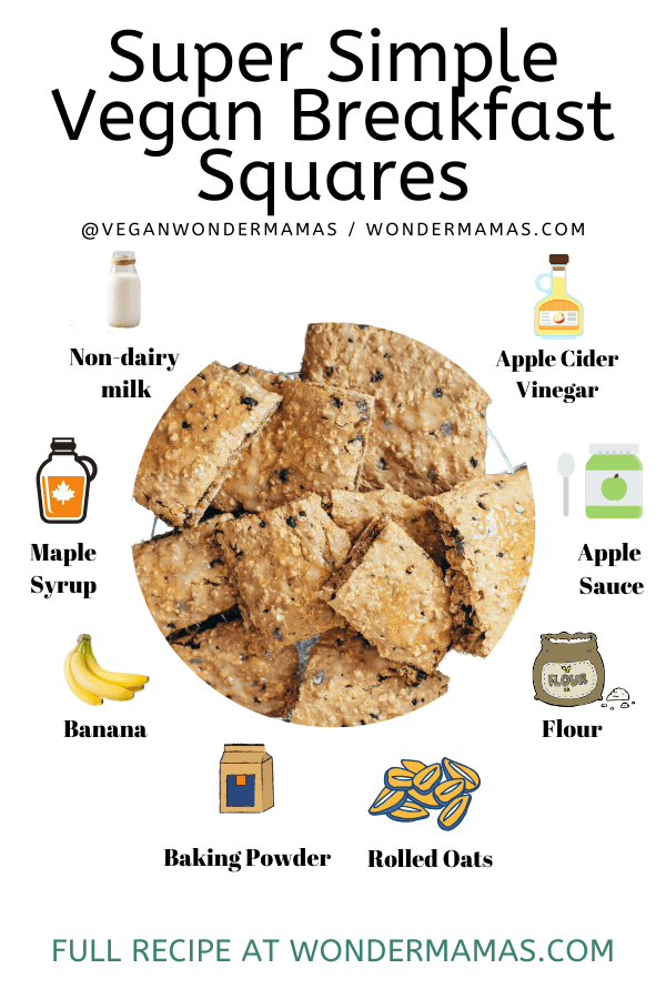 Super Simple Vegan Breakfast Squares