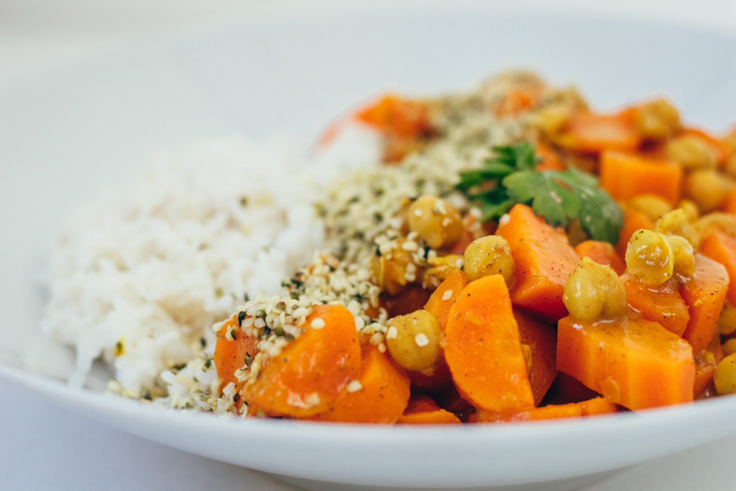 Garam Masala Coco-Carrot and Rice Bowl