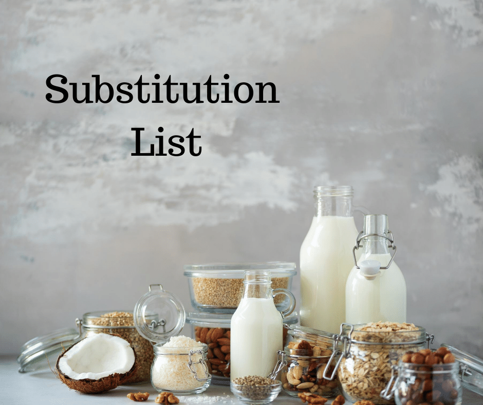 substitution list