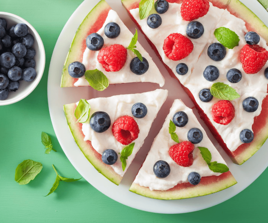 Vegan Watermelon Pizza