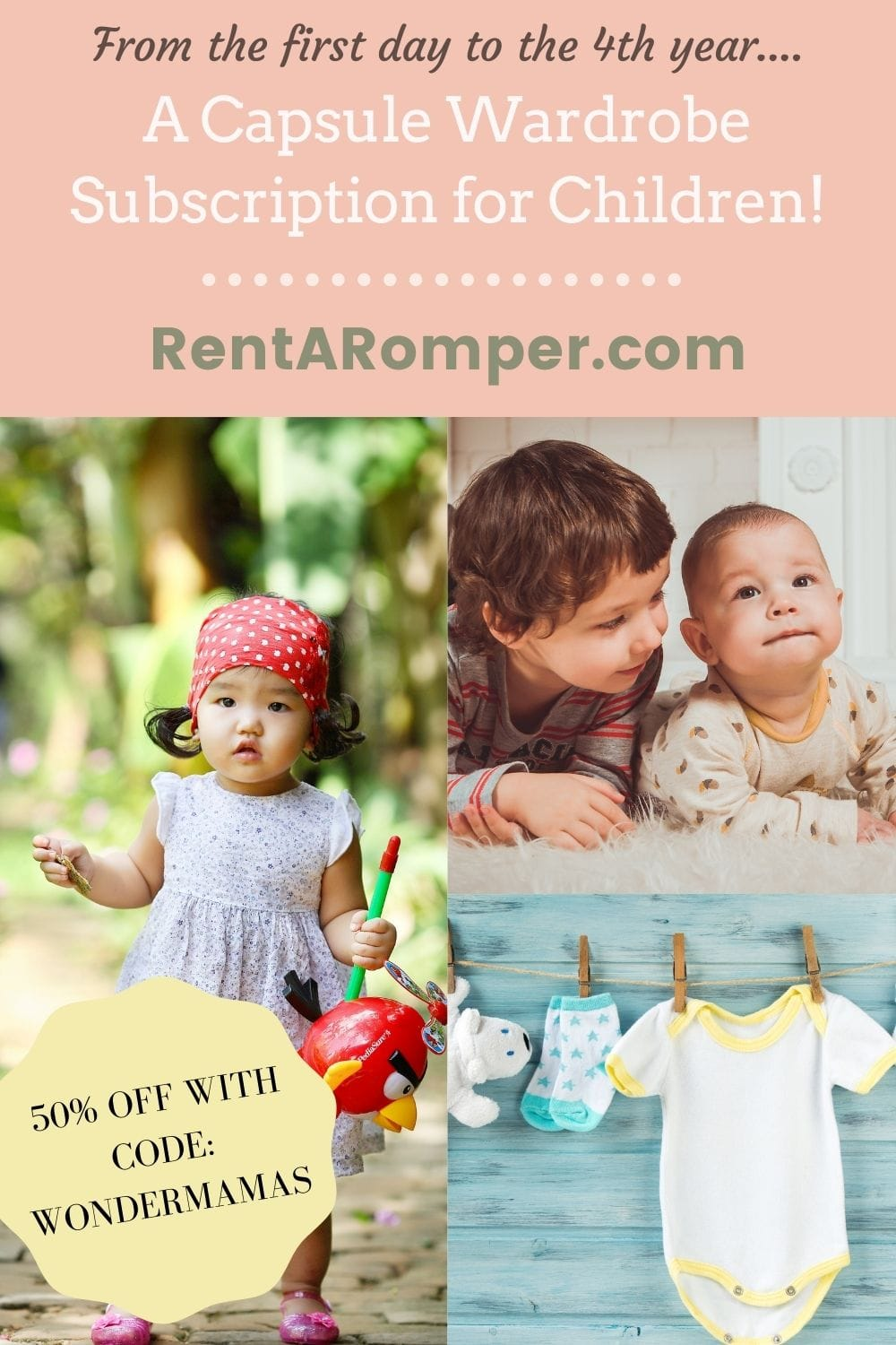 Rent-A-Romper Capsule Wardrobe Subscription for Children