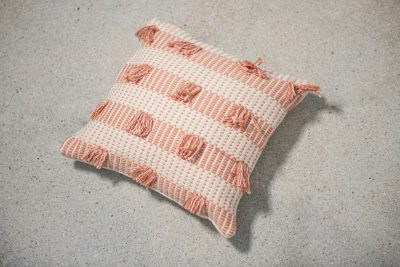 Zuahaza Striped Guayaba Pink Pillow
