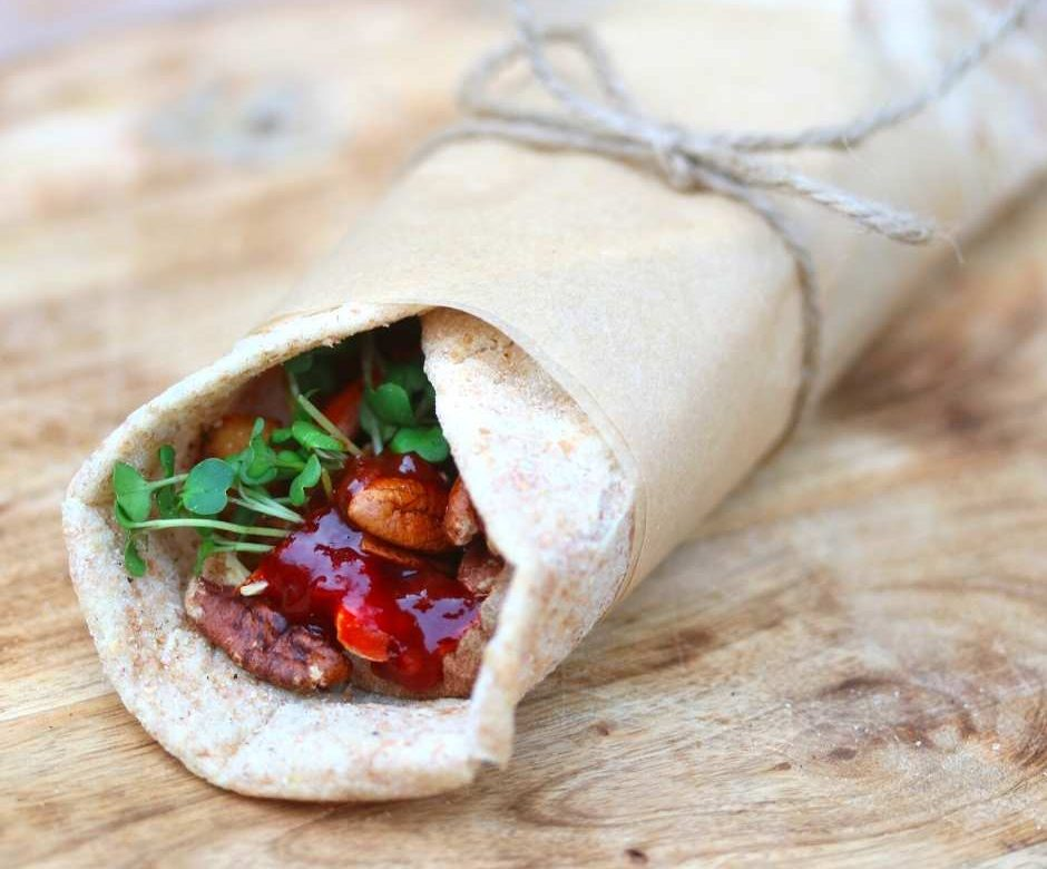 Vegan Thanksgiving Dinner Wraps