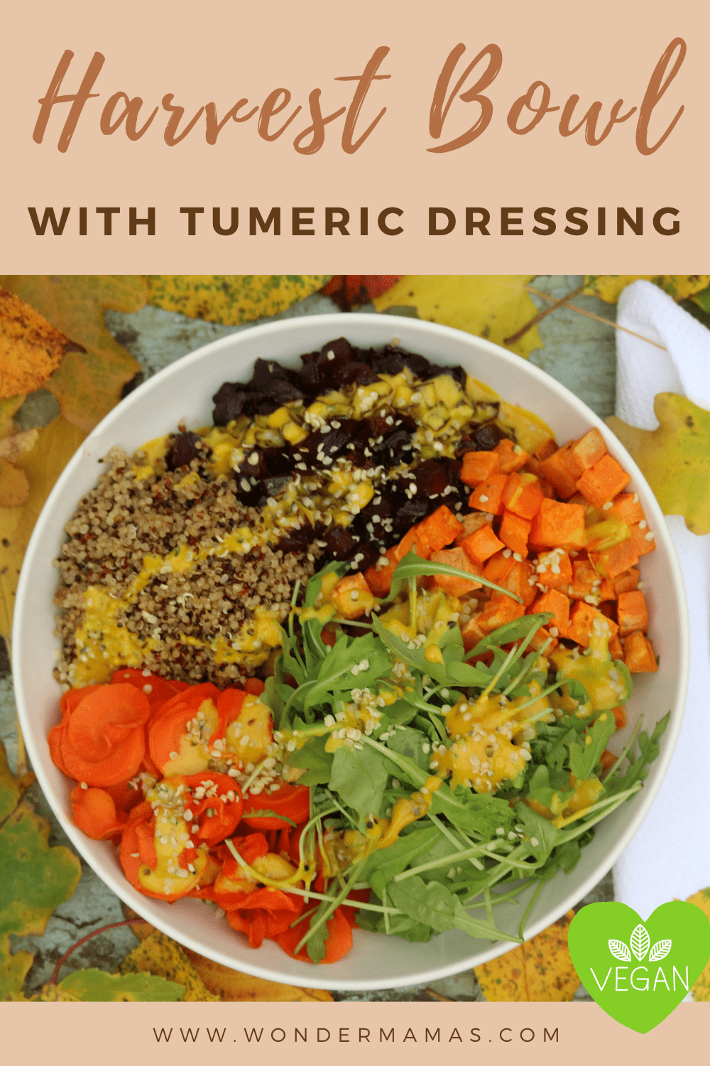Fall Harvest Bowl with Turmeric Dressing 6-min