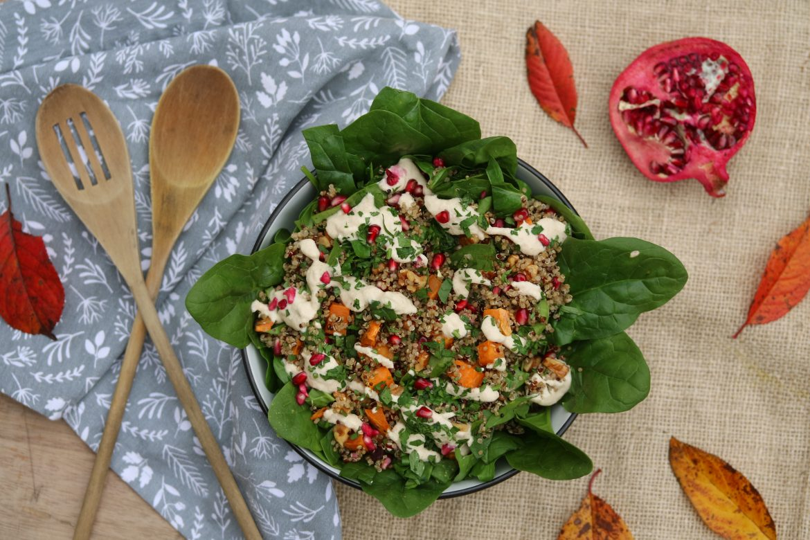 Pomegranate Sweet Potato Salad 1